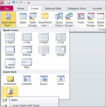 What's New For Access 2010's Ribbon | Database Solutions for