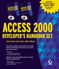 Access 2000 Developers Handbook