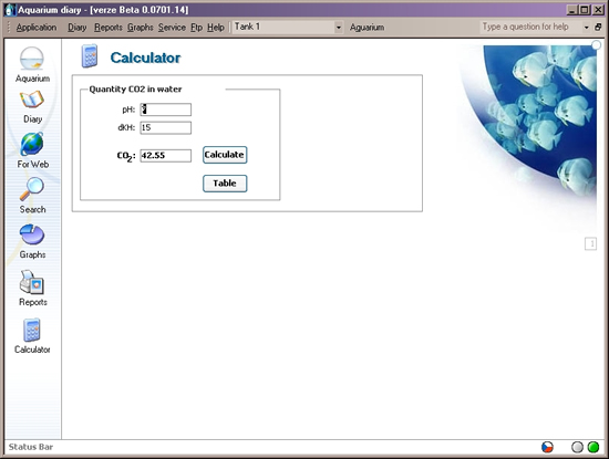Displaying a simple calculator to find CO2 concentration