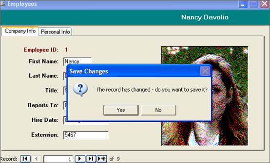 Prompt For Saving a Record with VBA | Database Solutions for