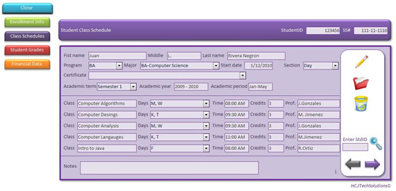 Graphical User Interface (GUI) Example | Database Solutions for ...